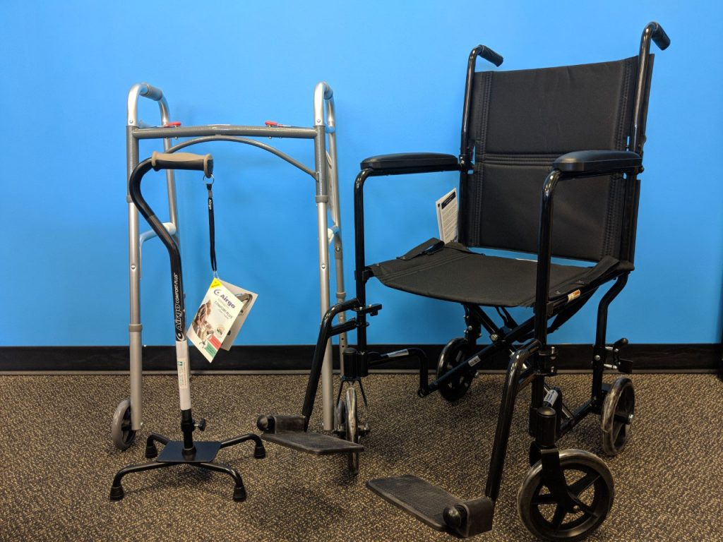 Wheelchair, walker and canes